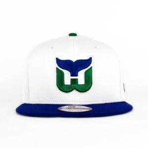 All white NHL Hartford Whalers Hat